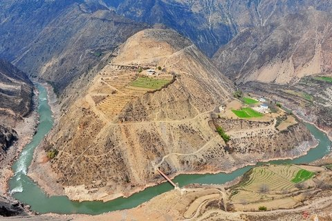 Lancang River grand canyon Shangri-la Yunnan