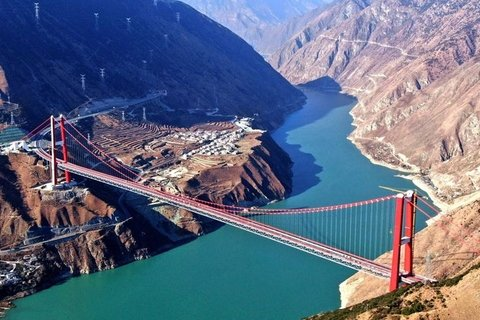 Bridge on the highway from Yaan to Kangding