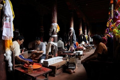 Printing workers in Dege