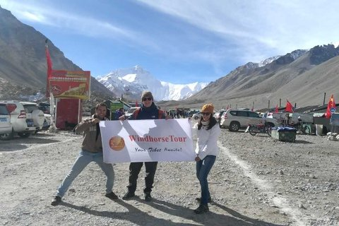 Olga with Friends at Everest Base Camp September
