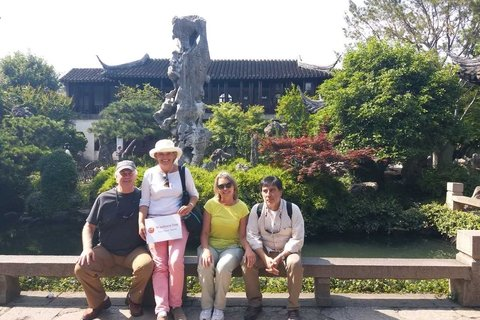 Juan and his friends at Suzhou Garden