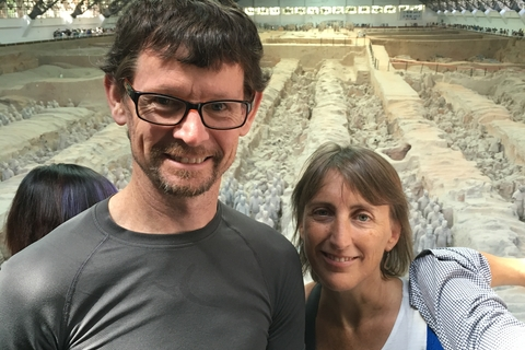 Marta with Bredan at Terracotta Warriors 2016