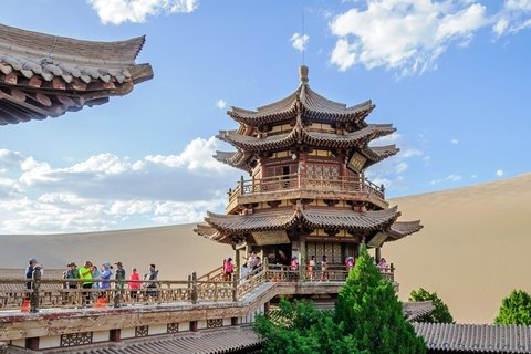 Crescent Lake in Dunhuang Along the Ancient Silk Road