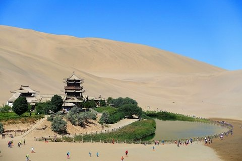 Visit Crescent Lake in Dunhuang