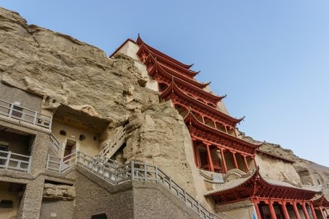 Caves of Mogao Grottos in Duhuang on the Silk Road