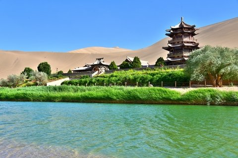Summer Travel to Crescent Lake in Dunhuang