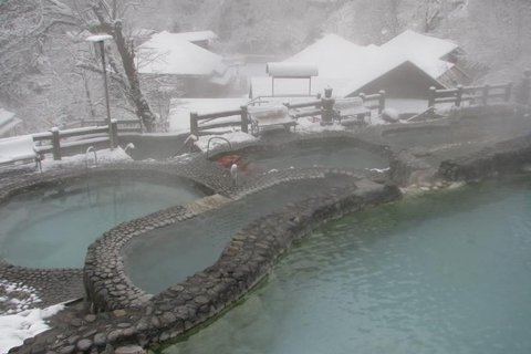 Hot-spring at Hailuogou glacier