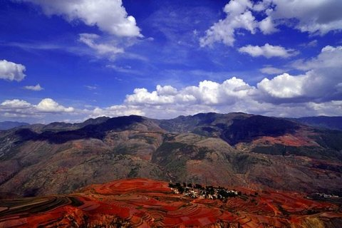 Dongchuan red land Luoxia valley