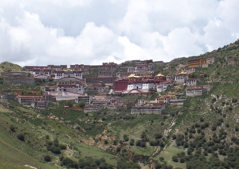 Beautiful Ganden Monastery in Tibet