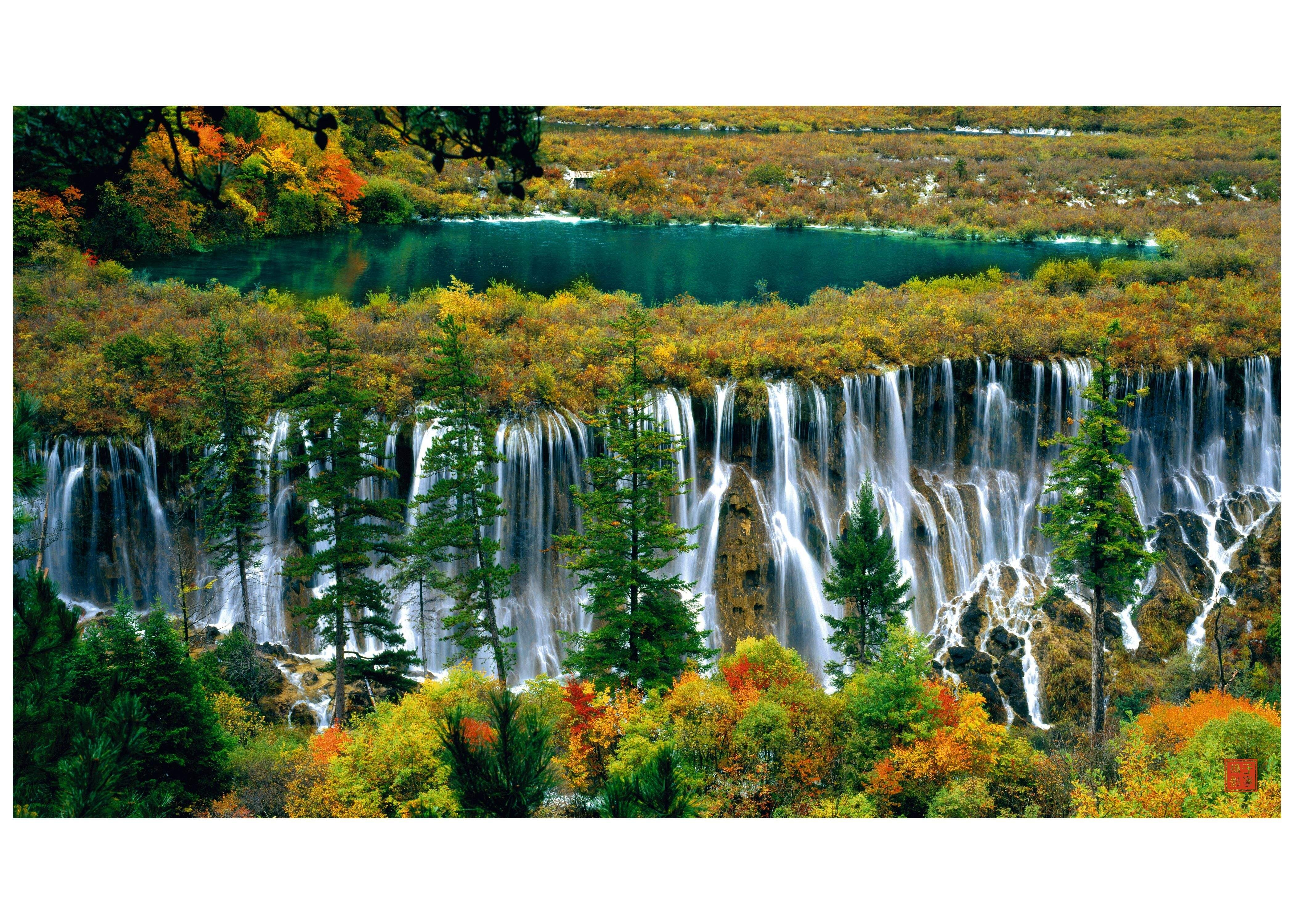 waterfall in jiuzhaigou