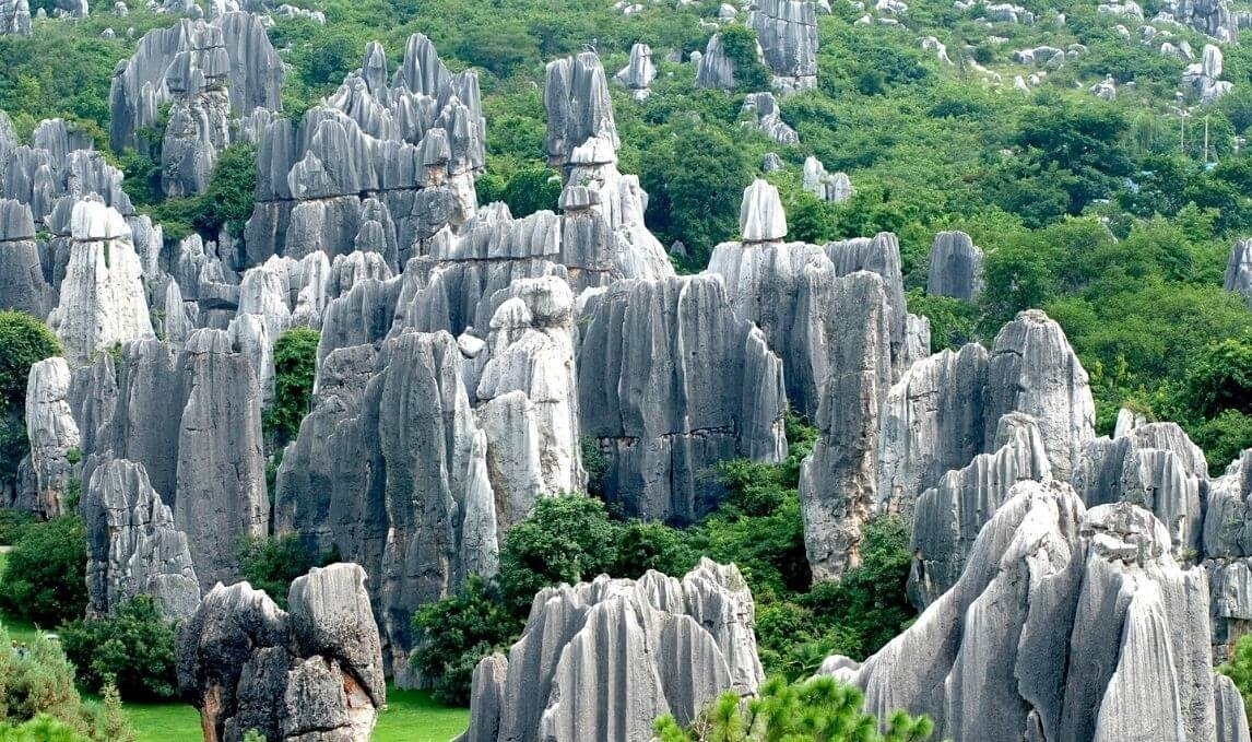 Visiting Stone forest in China