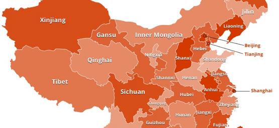 China travel maps