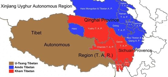 Tibet travel maps