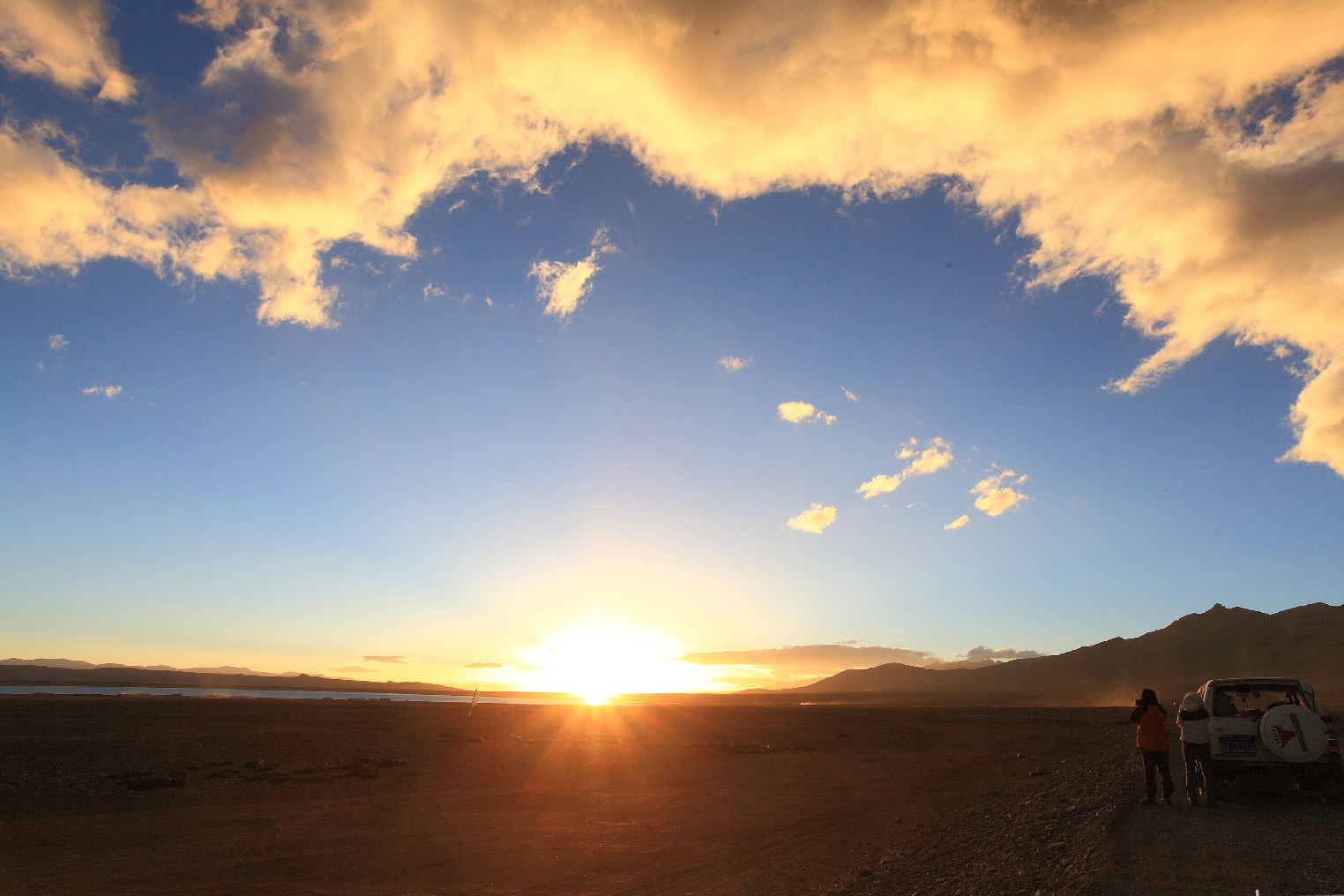 Sunrise on Tibetan Plateau