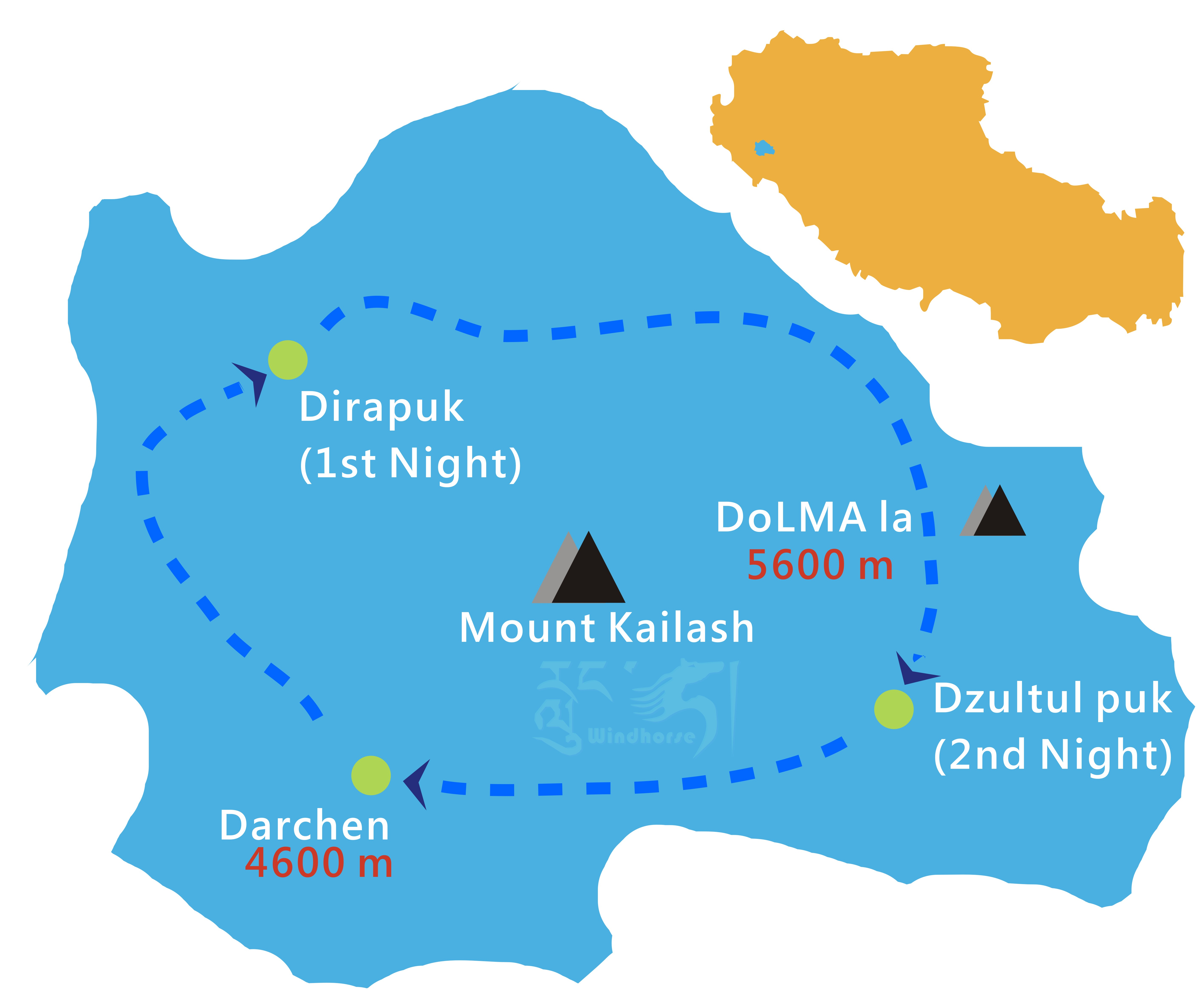 Tibet Mount Kailash Kora Tour Route