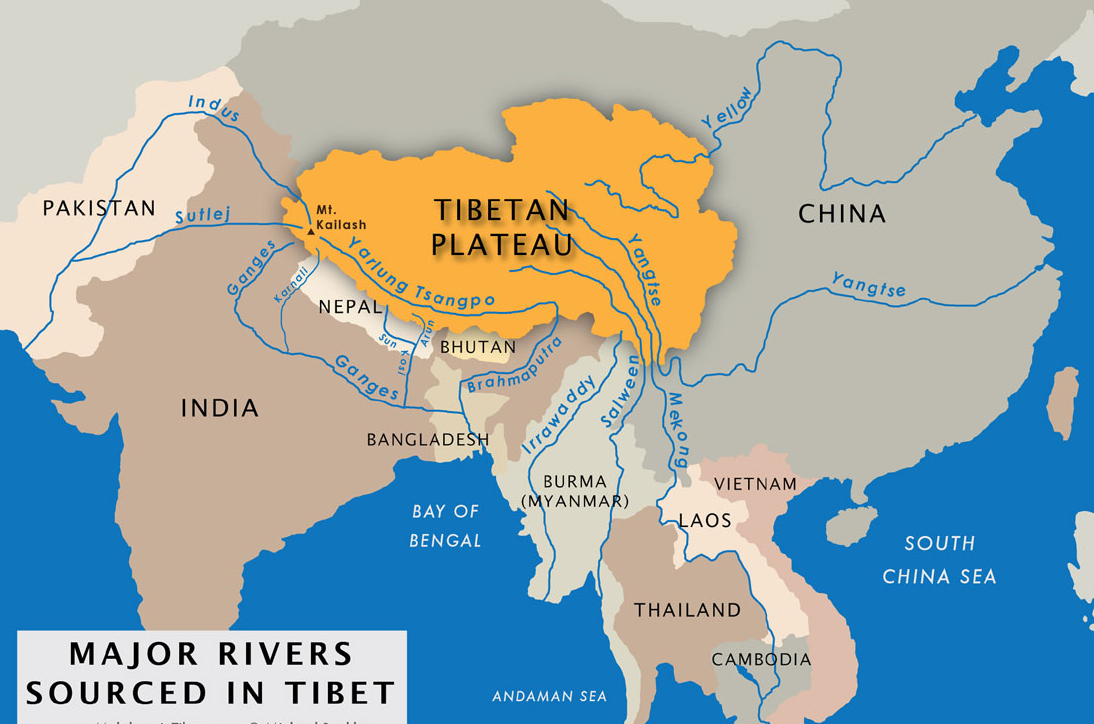 Map of Tibet Rivers