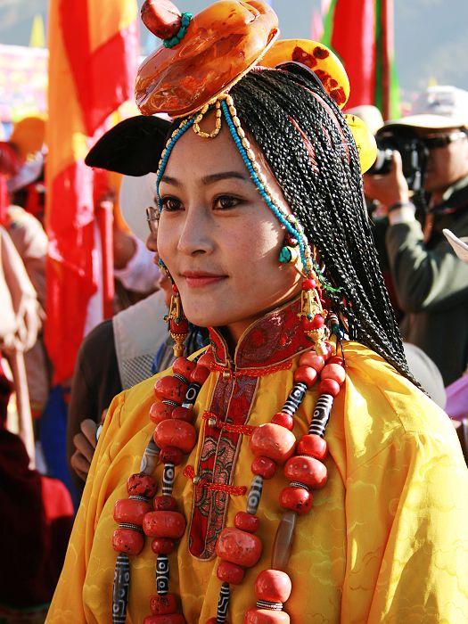 Tibetan in Traditional Dress