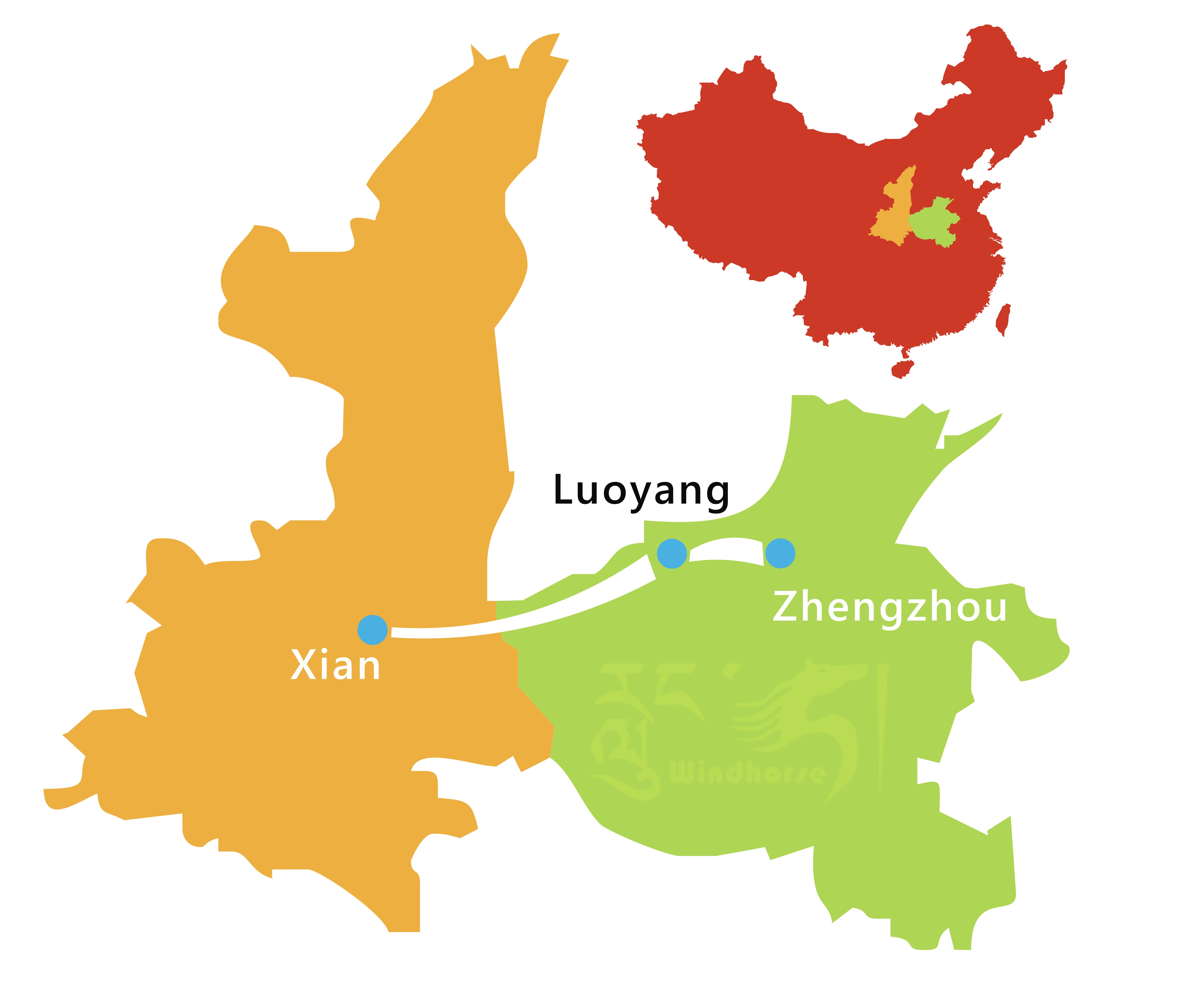Xi'an Luoyang Tour Route