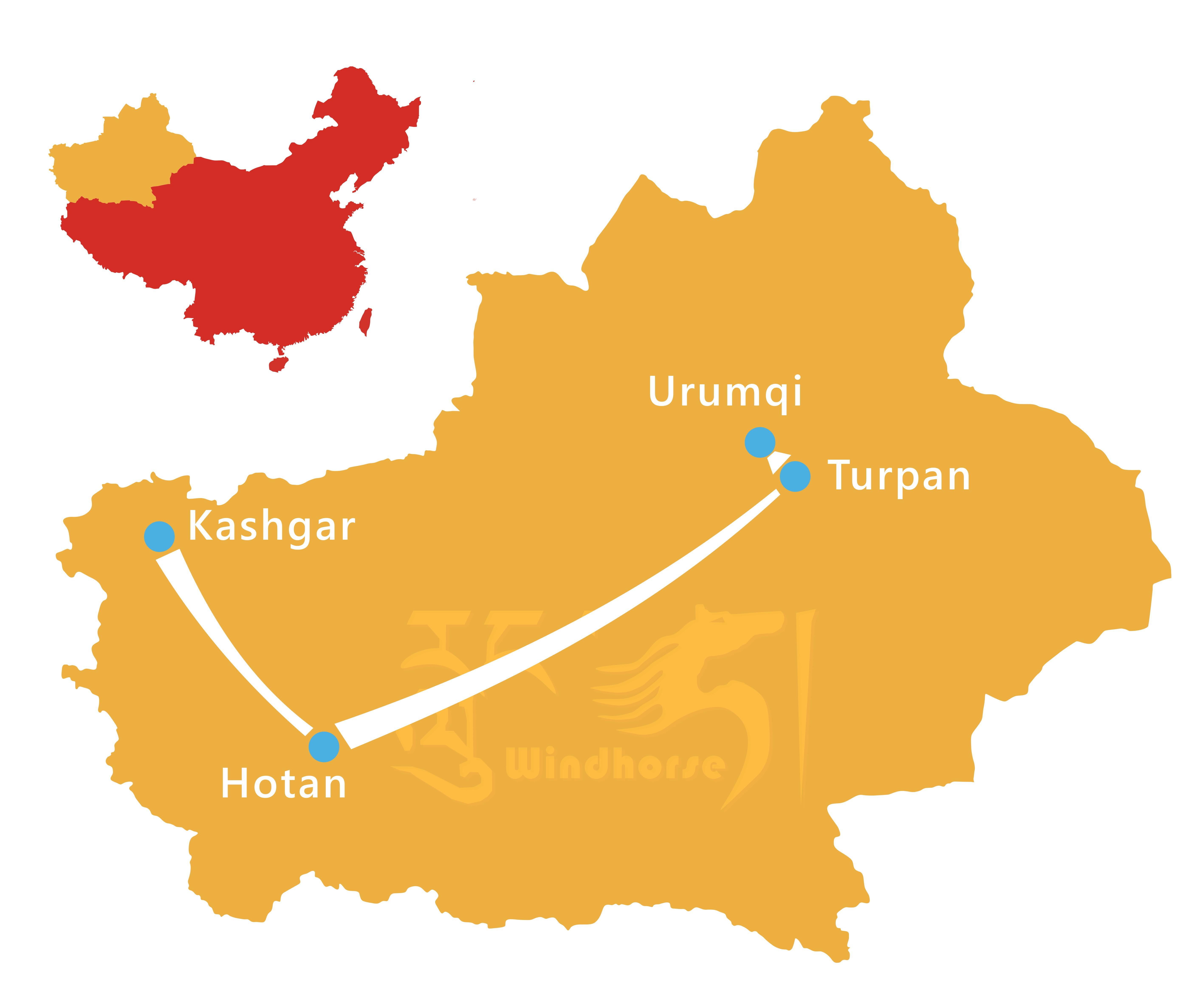 Xinjiang Silk Road Tour Route