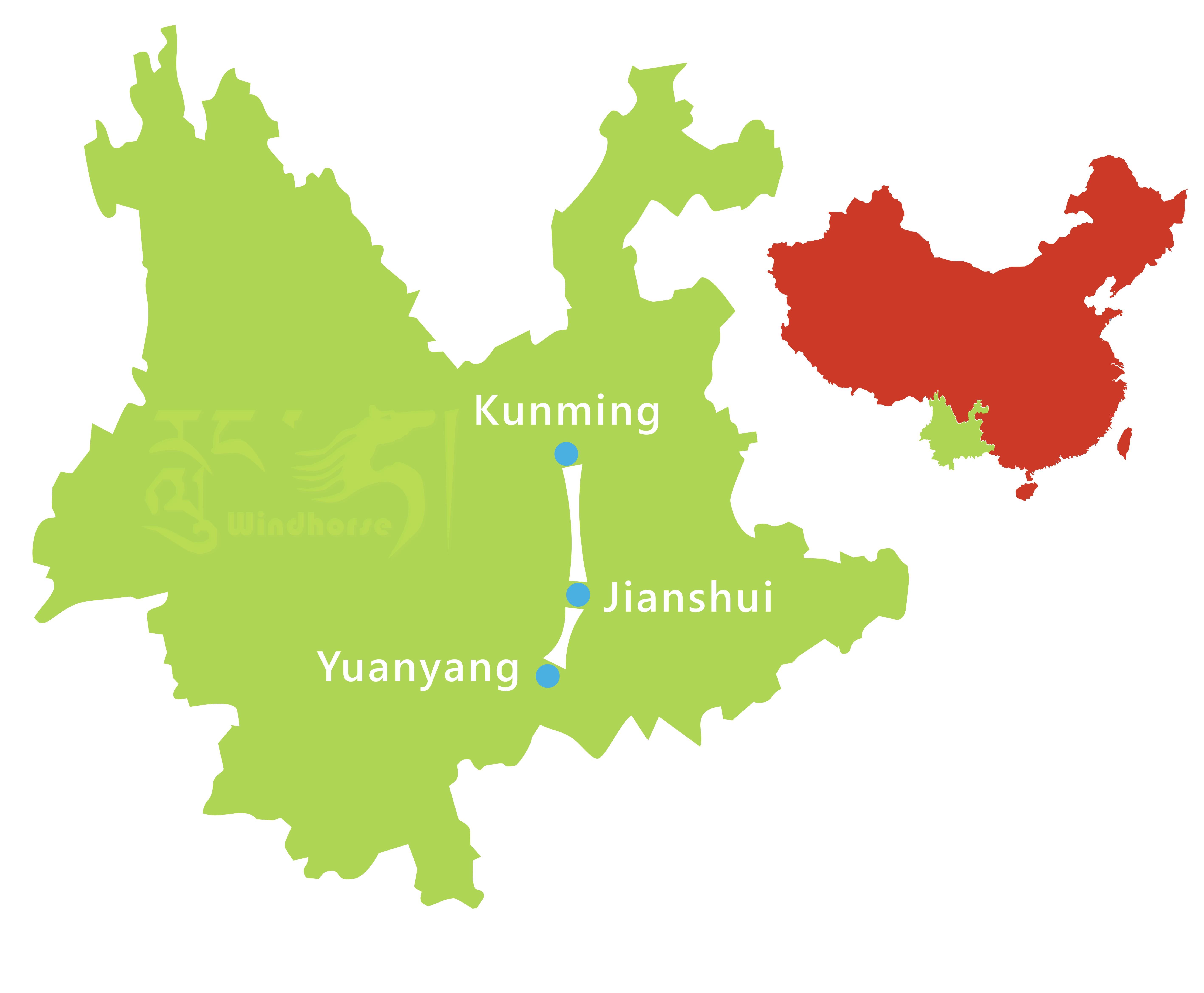 Yuanyang Rice Terraces Tour Route