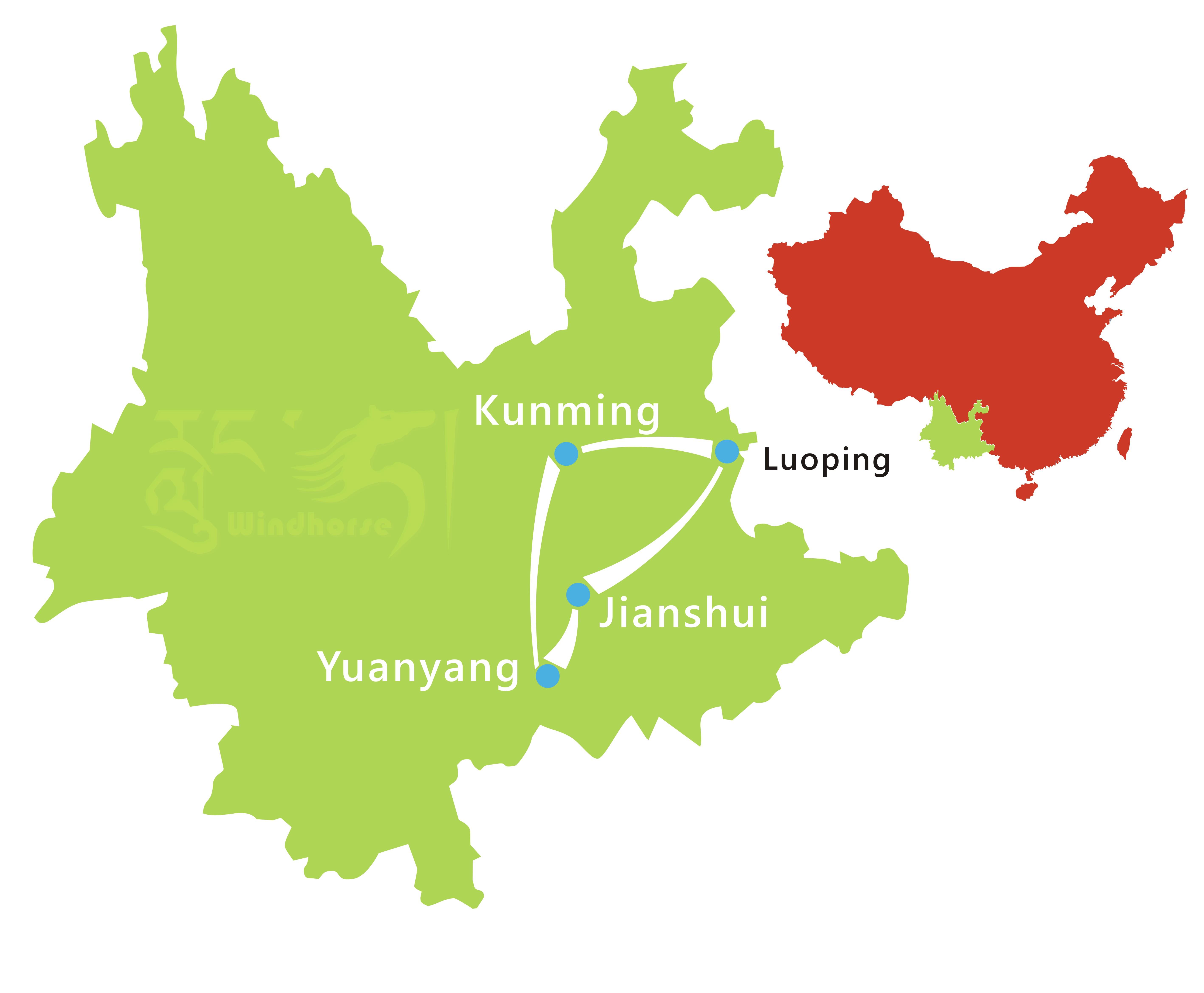 Yunnan Photography Tour Route
